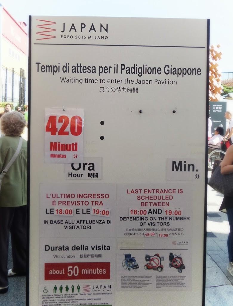 Expo Milano - coda Giappone