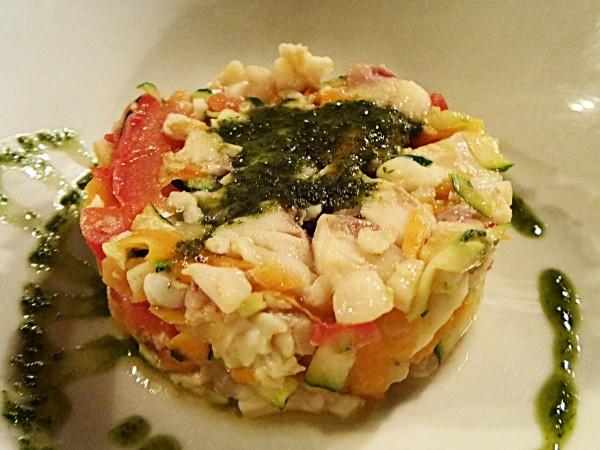 Kitchen Society - Milano - Tartare di Orata cotta con verdure croccanti