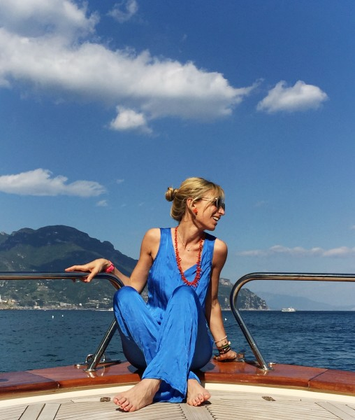Costiera Amalfitana - Blue jumpsuit - Deha