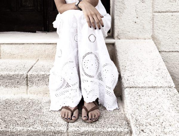 Long white dress - Sicilian summernight
