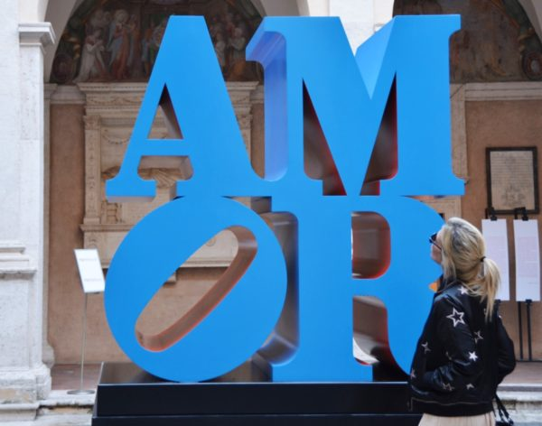 LOVE - Robert Indiana - Love - Chiostro del Bramante - Roma