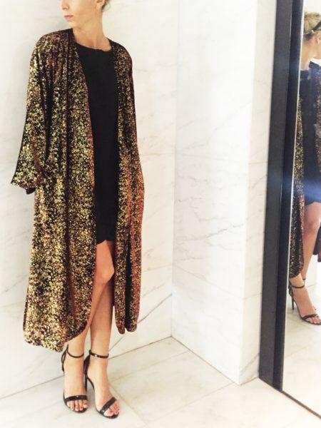 Velvet kimono - Caftanii Firenze