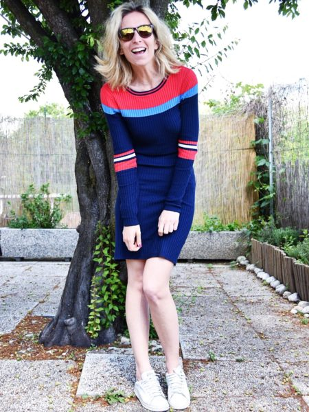 Spring outfit inspirations - Navy blue dress - Primark