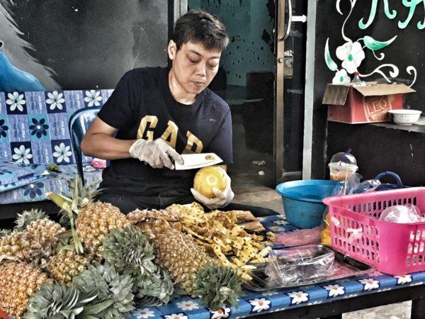 Thailand - Koh Tao - local pineapple market